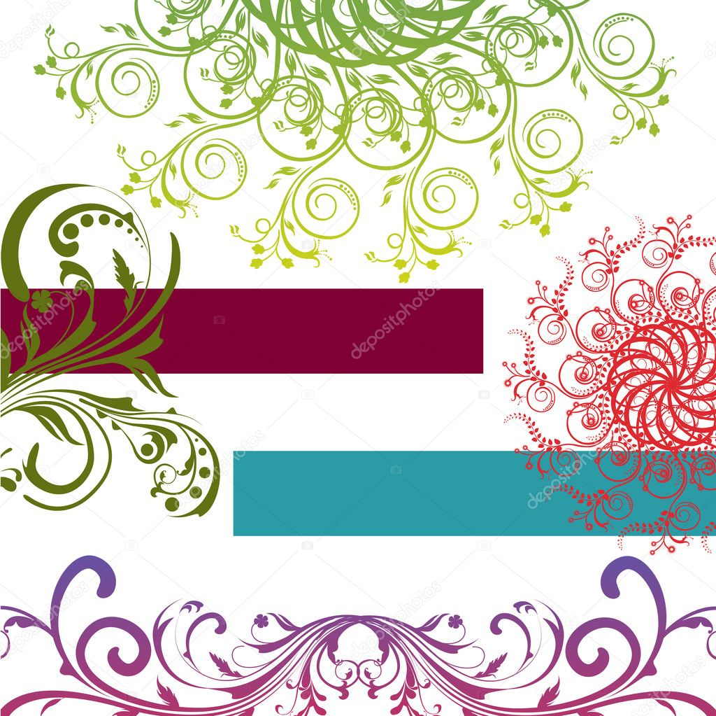 Illustration of abstract floral background  Stock Photo #4563587