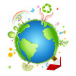 Recycle globe — Stock Photo #4582223