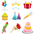 Birthday icons — Stock Photo #4582265