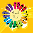 Colorful slippers - Stockfoto