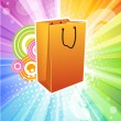 Abstract shopping bag - Stock Photo