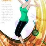 Dancing lady — Stock Photo