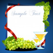 Grape wine card — Stock Photo