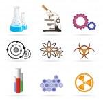 Lab icons — Stock Photo
