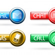 Communication buttons — Stock Photo
