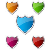 Colorful shields — Stock Photo