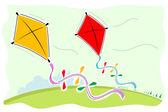 Colorful kites — Stock Photo