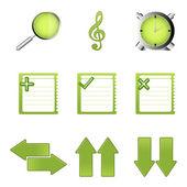Study icons — Stock Photo