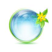 Natuurlijke wereldbol met bloem — Stockfoto