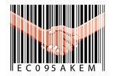 Negocio con código de barras — Foto de Stock
