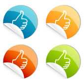 Thumbs up logo — Stock Photo