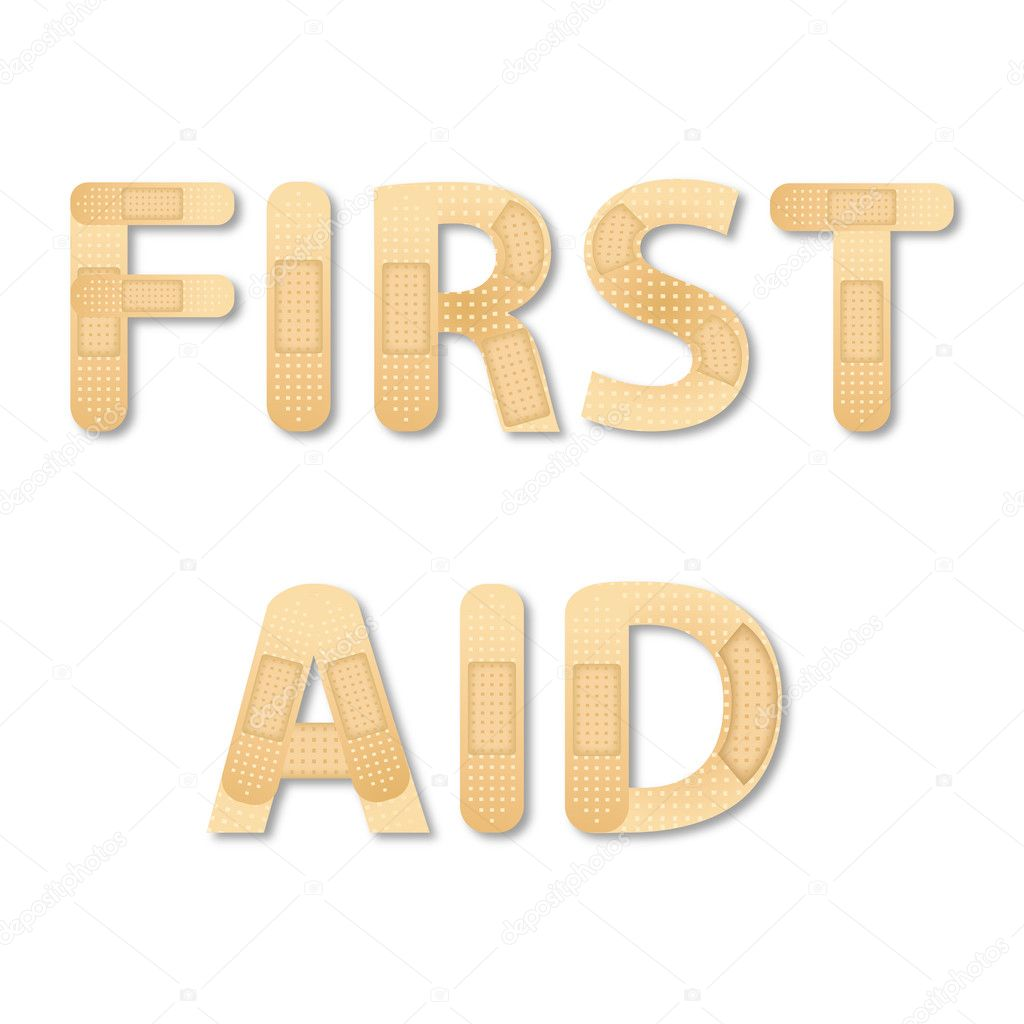 Illustration of first aid on white background — Stock Photo #4583672