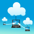 Laptop with cloud — Stock Photo #4607405