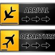Arrival and departure tags — Stock Photo
