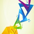 Abstract colourful design in letter — Stock Photo