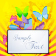 Abstract background with butterfly - Stock Photo