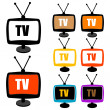 colorful tv with antenna — Stock Photo #4607722