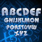 Alphabetical texts — Stock Photo
