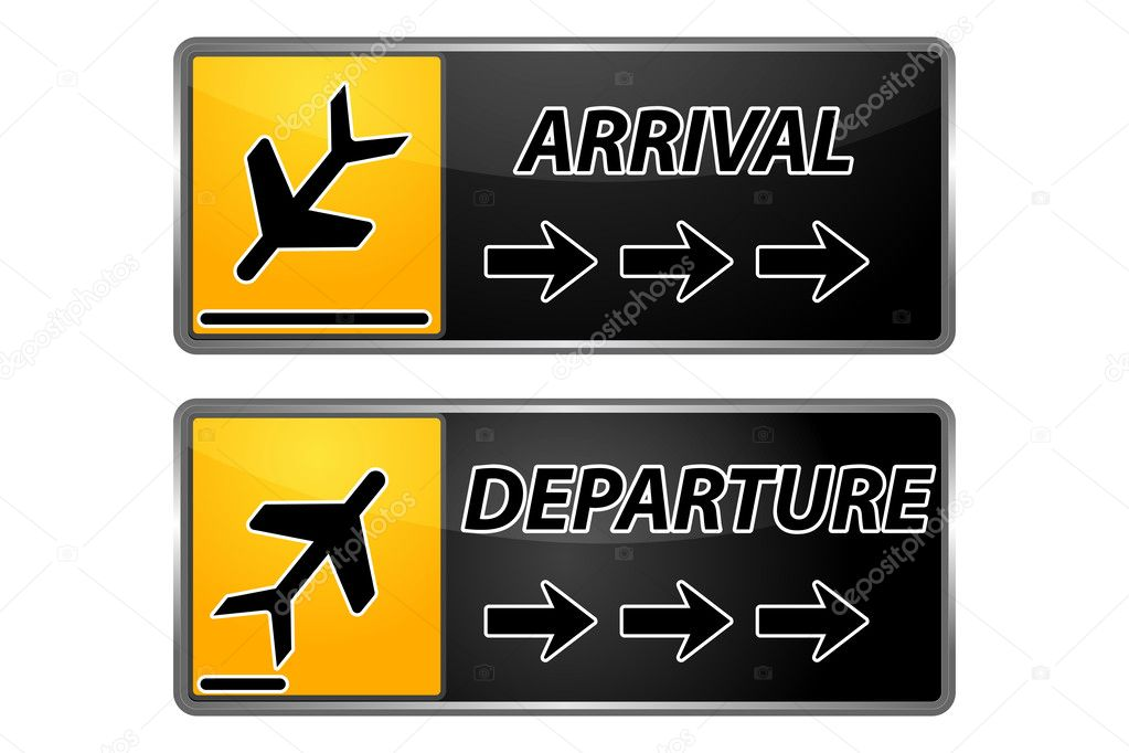 Arrival and departure tags — Stock Photo © get4net #4607458