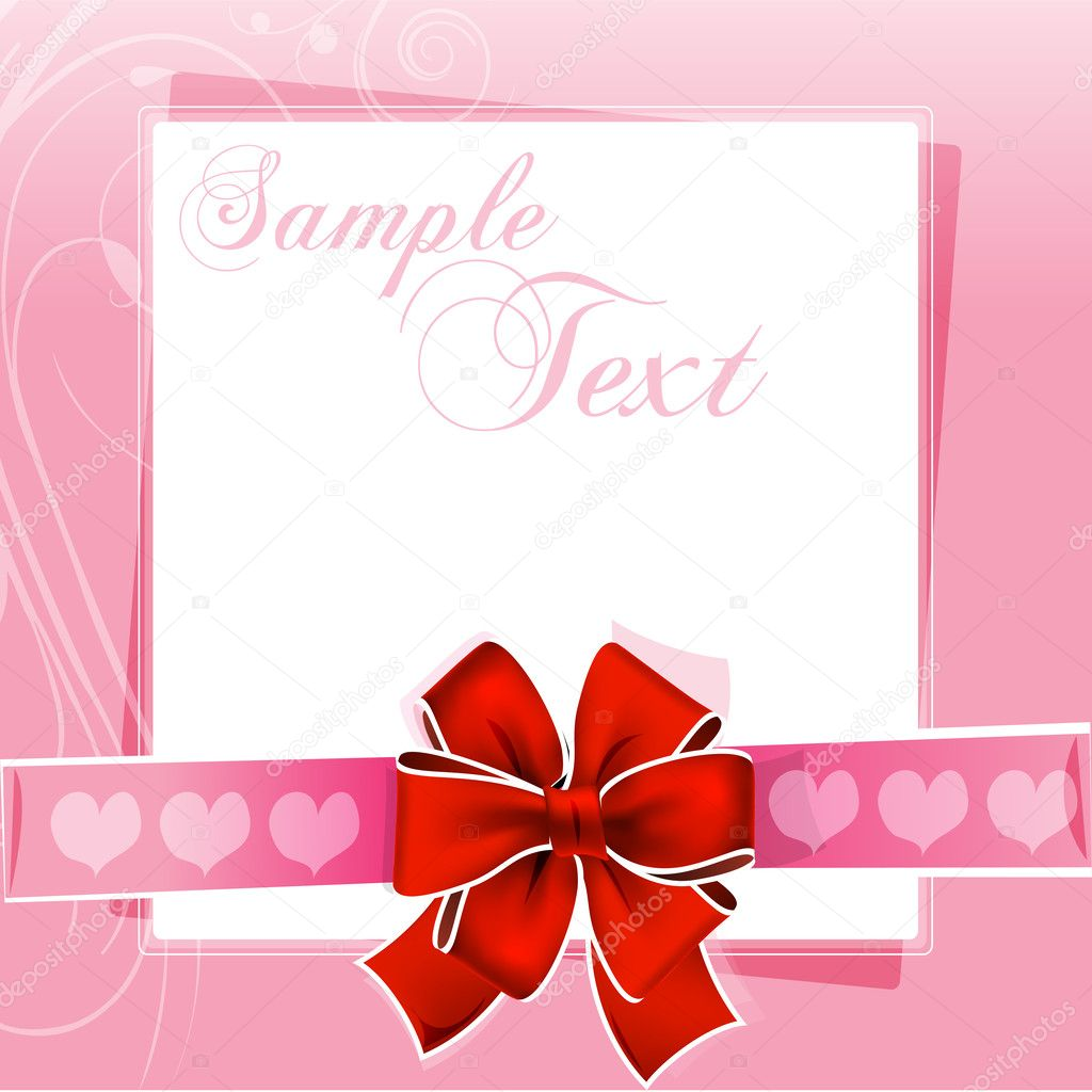 Illustration of valentine card — Stock Photo #4607681