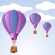 Parachute in sky — Stock Photo