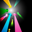 Colorful growing arrows — Stock Photo