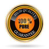 100% pure tag — Stock Photo