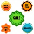 Sale tags — Stock Photo #5044106