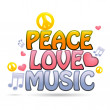 Peace love music — Stock Photo