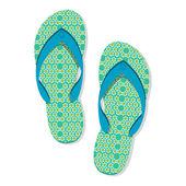 Stylish slippers — Stock Photo