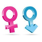 Male female icons — Stock Photo
