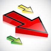Abstract vector arrows — Stock Photo