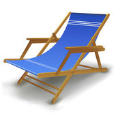 Colorful beach chair — Stock Photo