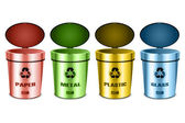 Sets of recycle bins — Stock Photo