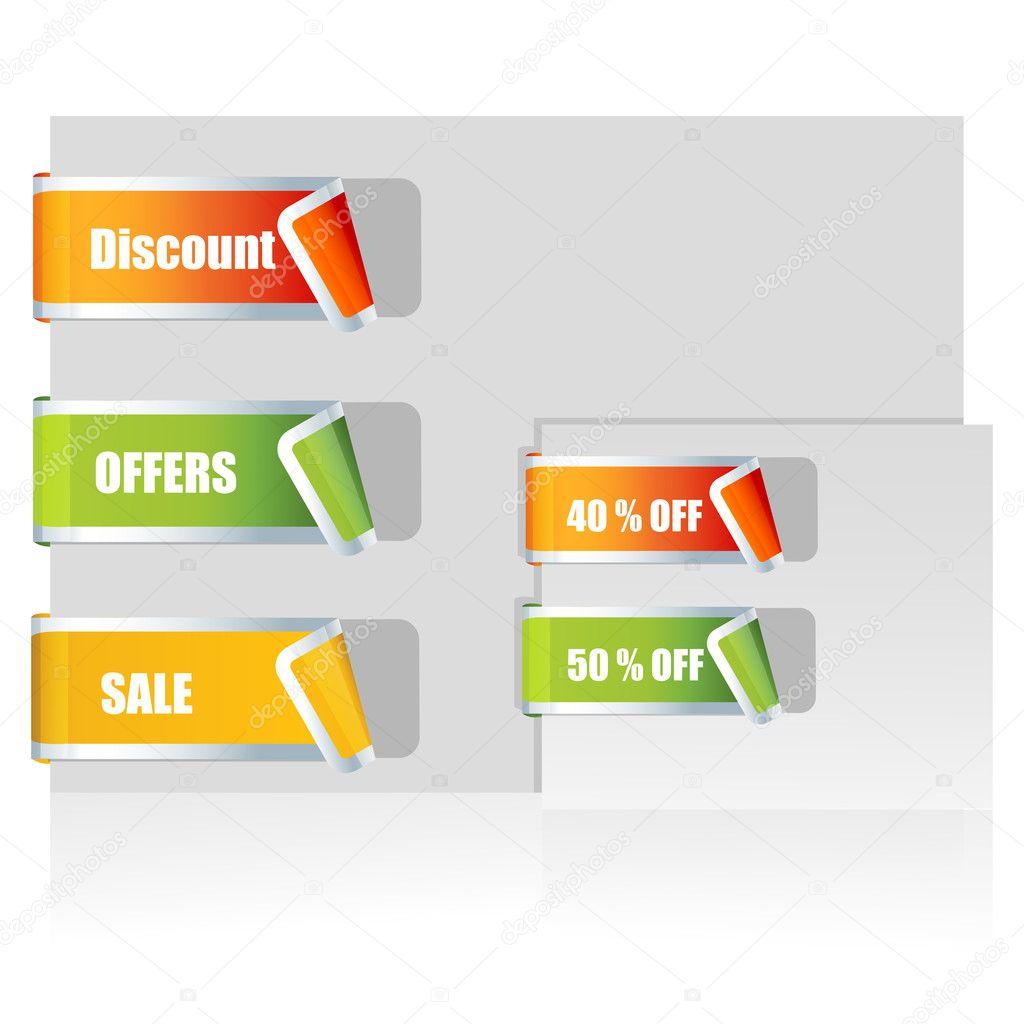 Illustration of sale tags on white background — Stock Photo #5044010