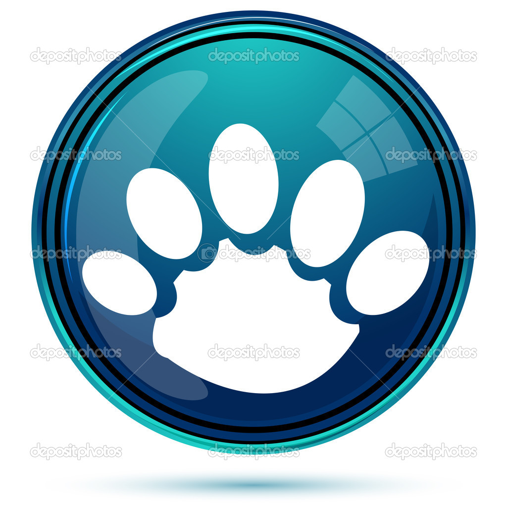 Illustration of animal paw on white background  Stock Photo #5044206