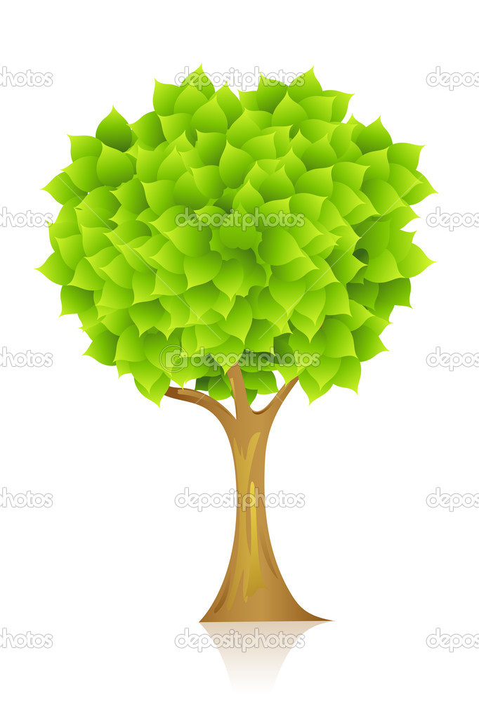 Illustration of natural tree on isolated background — Stock Photo #5044664