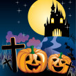 Halloween illustration — Vector de stock #3391721