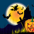Halloween illustration — Vector de stock #3391725