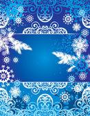 Achtergrond voor nieuwjaar en voor kerstmis — Stockvector