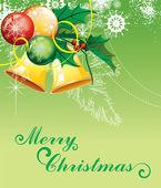 Hintergrund für silvester und weihnachten — Stockvektor