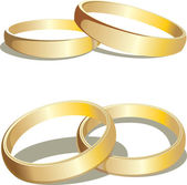 Gold wedding rings — Vector de stock