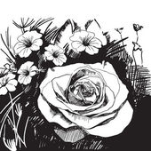 Fondo floral abstracto — Vector de stock