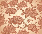 Sömlös floral bakgrund — Stockvektor