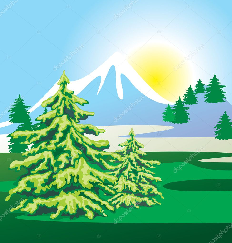 Landscape — Stock Vector #3395856