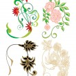 Floral elements for design — Stock Vector