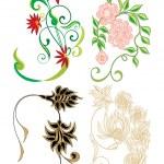 Tasarım çiçek öğeleri — Stok Vektör