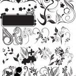 elementi floreali per design — Vettoriale Stock