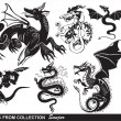 Stock Vector: Dragons