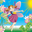 Little fairy — Stock Vector #3401156